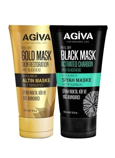 Agiva Agiva Soyulabilir Siyah Ve Gold Maske Seti  Renksiz